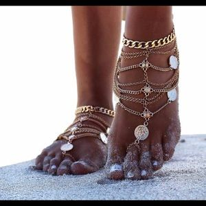 Jewelry - Gold plated Multi chain jewelry for ankle